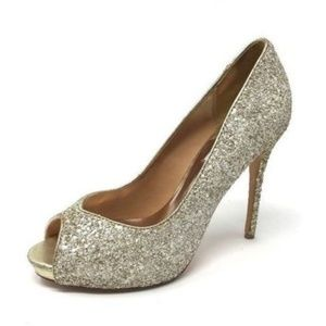Badgley Mischka Pumps 7.5 Bridal Shoes Gold Pumps